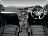 Photos of Volkswagen Golf TSI BlueMotion 5-door ZA-spec (Typ 5G) 2013