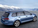 Photos of Volkswagen Golf TSI BlueMotion Variant (Typ 5G) 2013