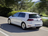 Photos of Volkswagen e-Golf (Type 5G) 2017