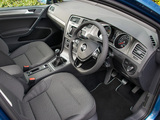 Pictures of Volkswagen Golf TDI BlueMotion 5-door UK-spec (Typ 5G) 2012