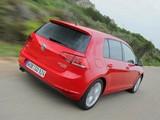 Pictures of Volkswagen Golf TDI BlueMotion 5-door (Typ 5G) 2012
