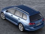 Pictures of Volkswagen Golf TSI BlueMotion Variant (Typ 5G) 2013