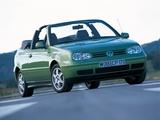 Volkswagen Golf Cabrio (Typ 1J) 1998–2002 photos