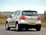 Volkswagen Golf 5-door UK-spec (Typ 1K) 2003–08 images