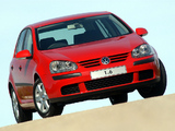 Volkswagen Golf 1.6 5-door ZA-spec (Typ 1K) 2003–08 photos