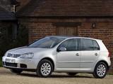 Volkswagen Golf 5-door UK-spec (Typ 1K) 2003–08 pictures