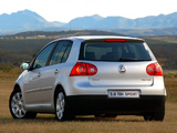 Volkswagen Golf 2.0 TDI Sport 5-door ZA-spec (Typ 1K) 2003–08 wallpapers