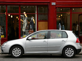 Volkswagen Golf Blue Motion (Typ 1K) 2008 pictures