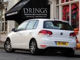 Volkswagen Golf 5-door UK-spec (Typ 1K) 2008 wallpapers