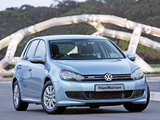 Volkswagen Golf BlueMotion 5-door ZA-spec (Typ 5K) 2009–12 photos