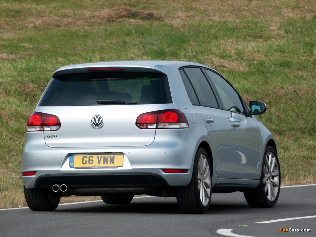 Volkswagen Golf GTD 5-door UK-spec (Typ 5K) 2009 photos (1024 x 768)