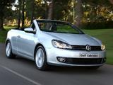 Volkswagen Golf Cabrio ZA-spec (Typ 5K) 2012 images