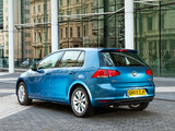 Volkswagen Golf TDI BlueMotion 5-door UK-spec (Typ 5G) 2012 pictures