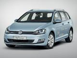 Volkswagen Golf TDI BlueMotion Variant (Typ 5G) 2013 wallpapers