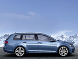 Volkswagen Golf TSI BlueMotion Variant (Typ 5G) 2013 wallpapers