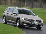 Images of Volkswagen Passat Estate BlueMotion UK-spec (B8) 2015