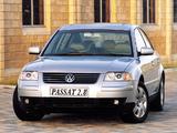 Photos of Volkswagen Passat V6 4MOTION Sedan ZA-spec (B5+) 2000–05