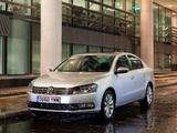 Photos of Volkswagen Passat BlueMotion UK-spec (B7) 2010