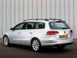 Pictures of Volkswagen Passat BlueMotion Variant UK-spec (B7) 2010