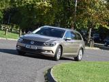 Pictures of Volkswagen Passat Estate BlueMotion UK-spec (B8) 2015