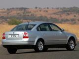 Volkswagen Passat TDI Sedan ZA-spec (B5+) 2000–05 photos