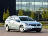 Volkswagen Passat BlueMotion Variant UK-spec (B7) 2010 wallpapers