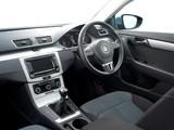 Volkswagen Passat BlueMotion UK-spec (B7) 2010 wallpapers