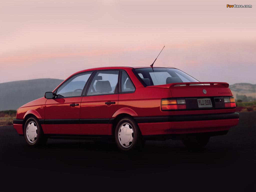 Volkswagen Passat Sedan US-spec (B3) 1988–93 wallpapers (1024 x 768)