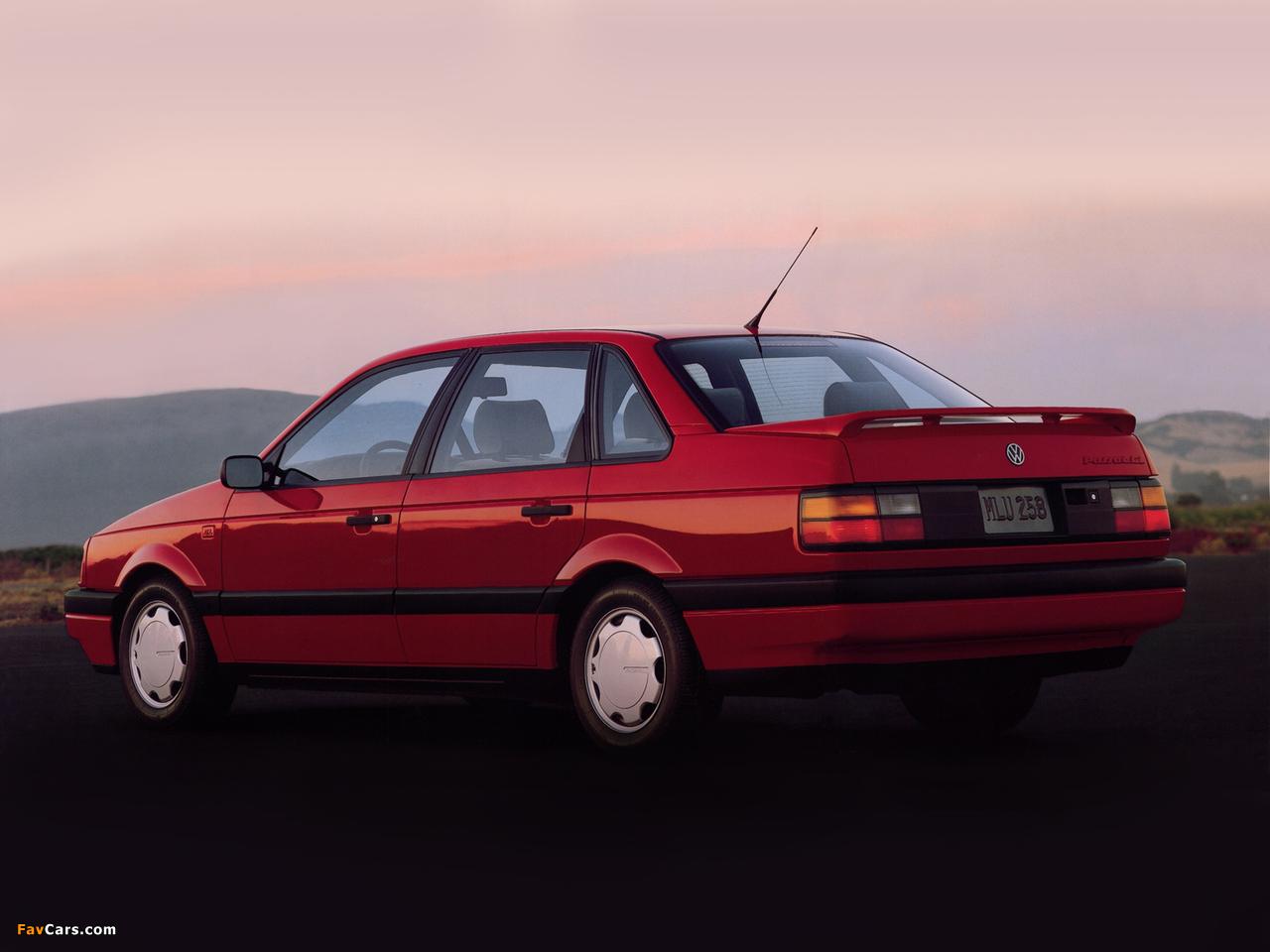 Volkswagen Passat Sedan US-spec (B3) 1988–93 wallpapers (1280 x 960)