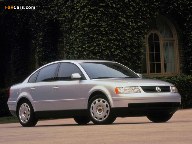 Volkswagen Passat Sedan US-spec (B5) 1997–2000 wallpapers (640 x 480)