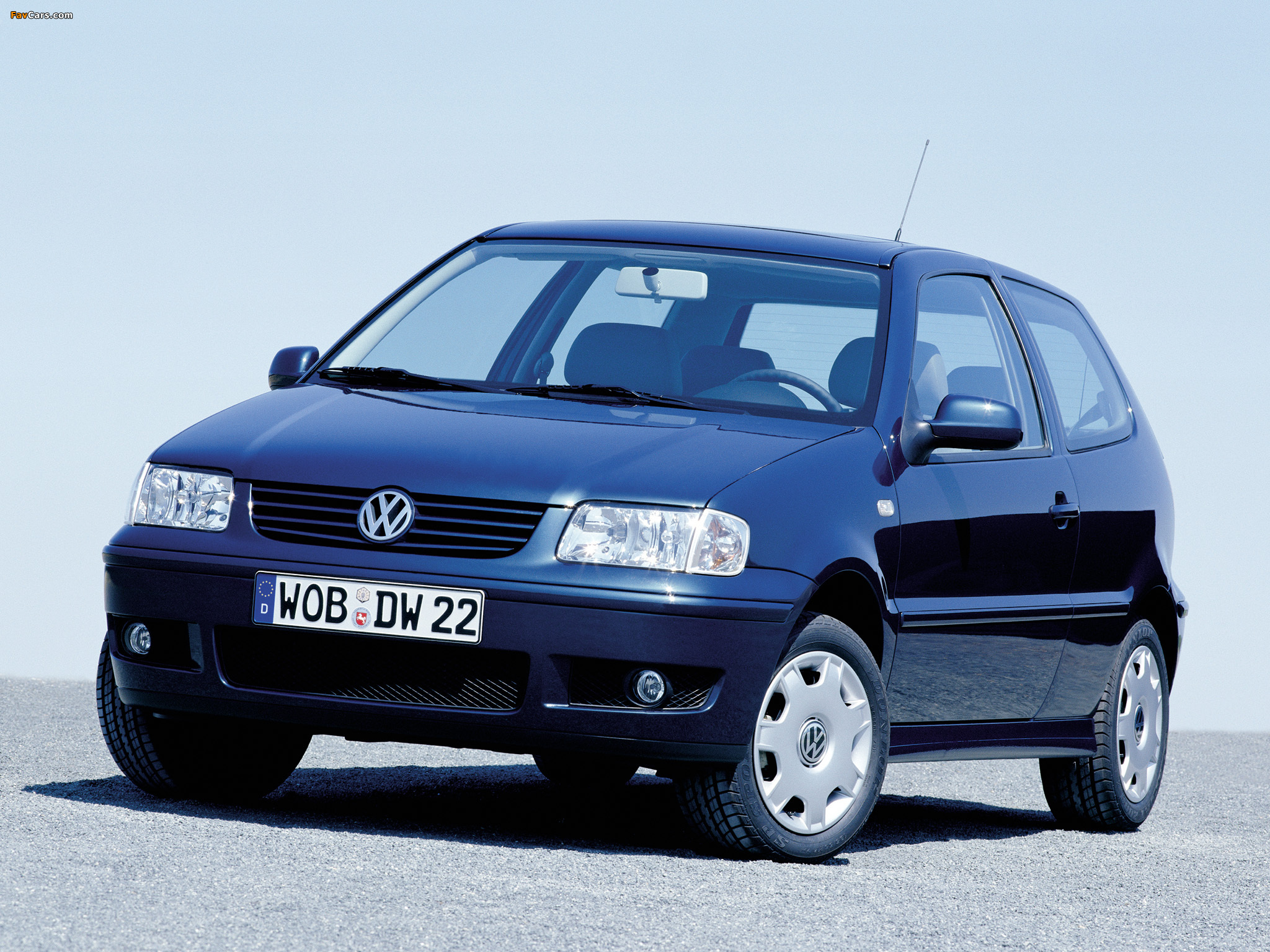 volkswagen polo 3 door typ 6n2 1999 2001 wallpapers. Black Bedroom Furniture Sets. Home Design Ideas