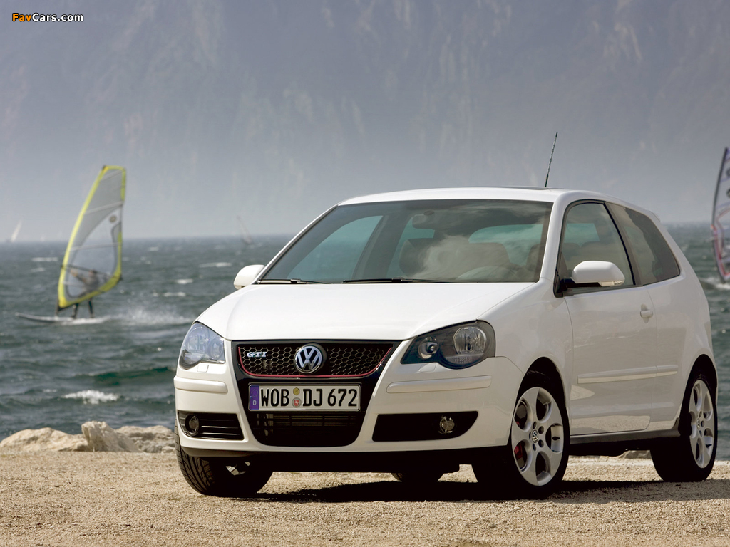 volkswagen polo gti 3 door typ 9n3 2006 09 wallpapers. Black Bedroom Furniture Sets. Home Design Ideas