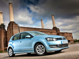Volkswagen Polo BlueMotion 5-door UK-spec (Typ 6R) 2010 wallpapers