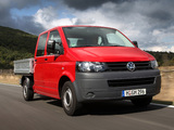 Images of Volkswagen T5 Transporter Double Cab Pickup 2009