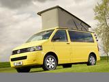 Photos of Volkswagen T5 California Beach UK-spec 2009