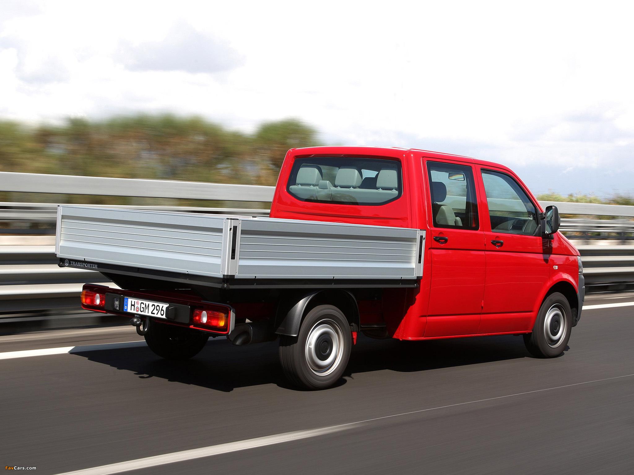 volkswagen t5 transporter double cab pickup 2009. Black Bedroom Furniture Sets. Home Design Ideas