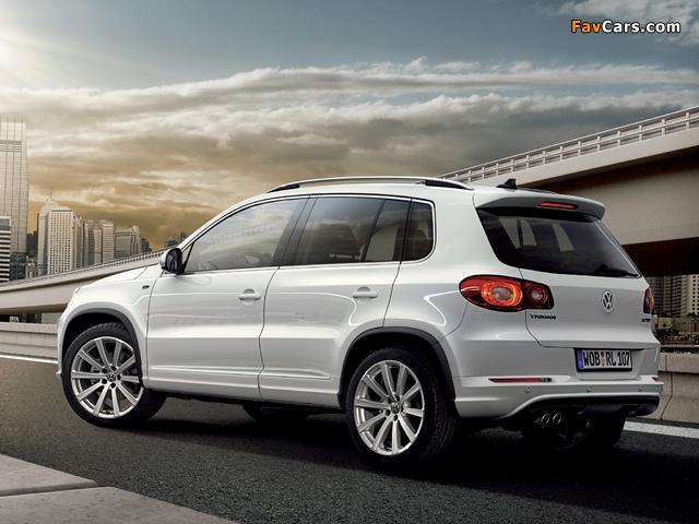 Pictures of Volkswagen Tiguan R-Line 2008–11 (640 x 480)