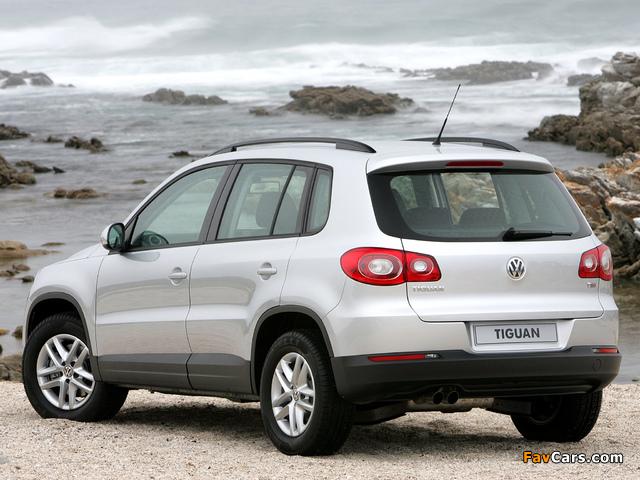 Volkswagen Tiguan ZA-spec 2008–11 images (640 x 480)