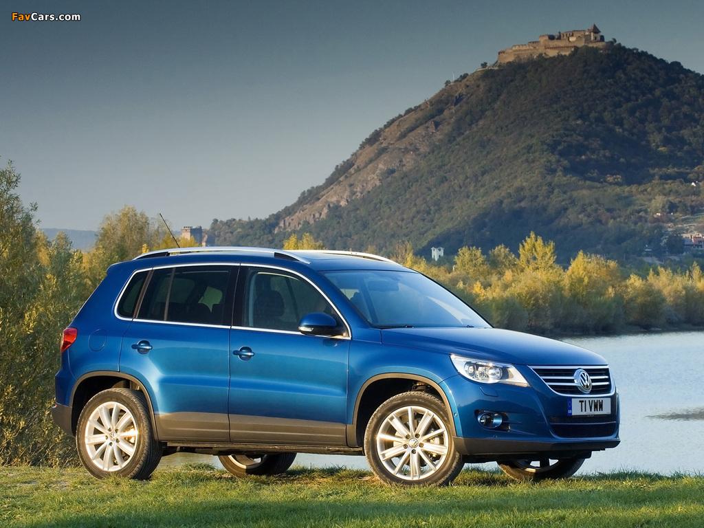 Volkswagen Tiguan UK-spec 2008–11 pictures (1024 x 768)