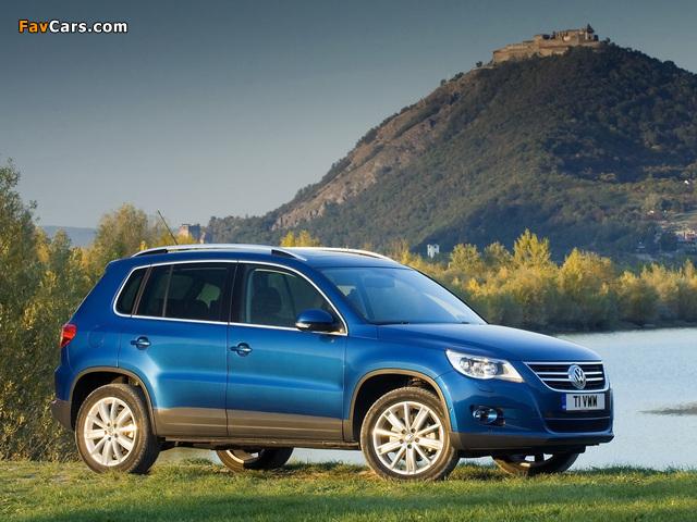 Volkswagen Tiguan UK-spec 2008–11 pictures (640 x 480)