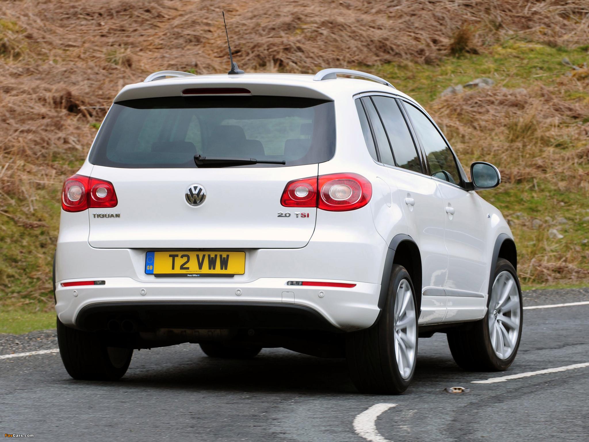Volkswagen Tiguan R-Line UK-spec 2010–11 images (2048 x 1536)