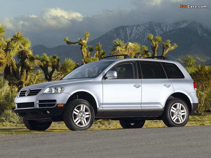 Volkswagen Touareg V8 US-spec 2002–07 wallpapers (800 x 600)