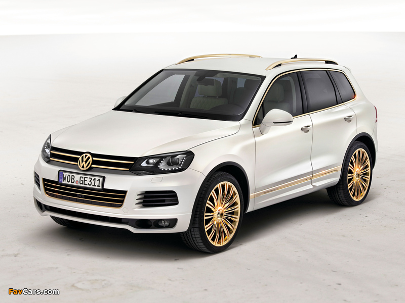 Volkswagen Touareg V8 TDI Gold Edition Concept 2011 wallpapers (800 x 600)