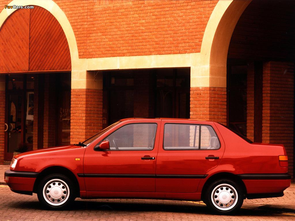 Volkswagen Vento 1991–98 wallpapers (1024 x 768)