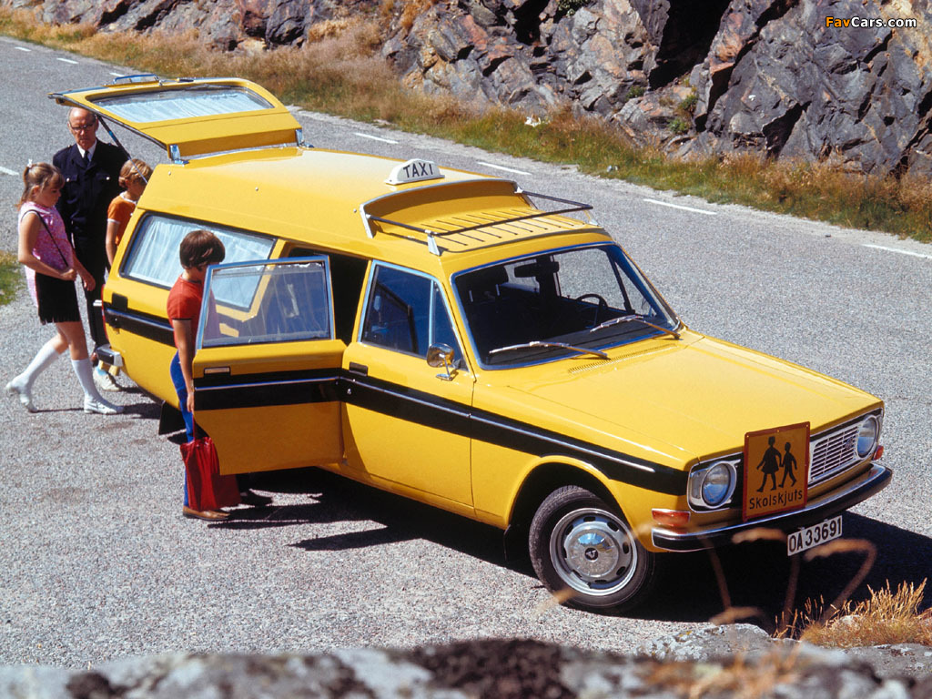 Volvo 145 Express School Taxi 1970 72 Wallpapers 1024x768