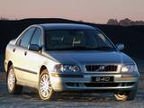 Volvo S40 ZA-spec 2002–04 photos