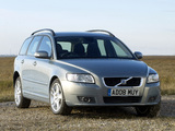 Volvo V50 UK-spec 2007–09 wallpapers