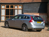 Images of Volvo V60 D6 Plug-In Hybrid UK-spec 2012–13