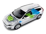 Volvo V60 Plug-in Hybrid Prototype 2011 wallpapers