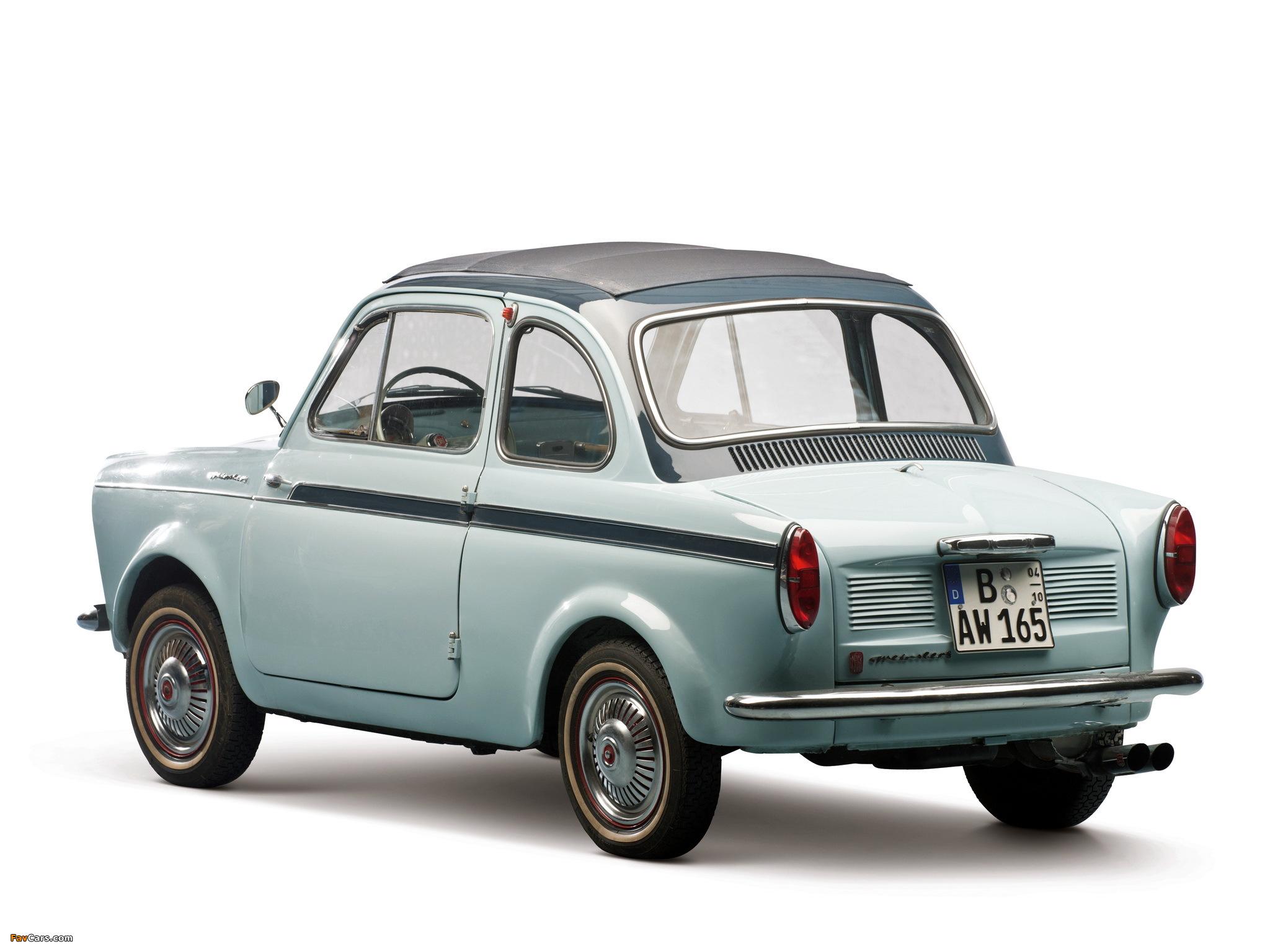 Fiat Weinsberg 500 Limousette 1960–63 photos (2048 x 1536)